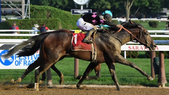 Realm Wins Alydar Stakes